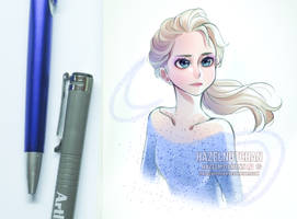 Lil Elsa sketch by Hazelnutchan