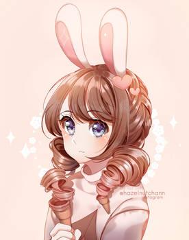 OC : Ice cream bunny Nao!