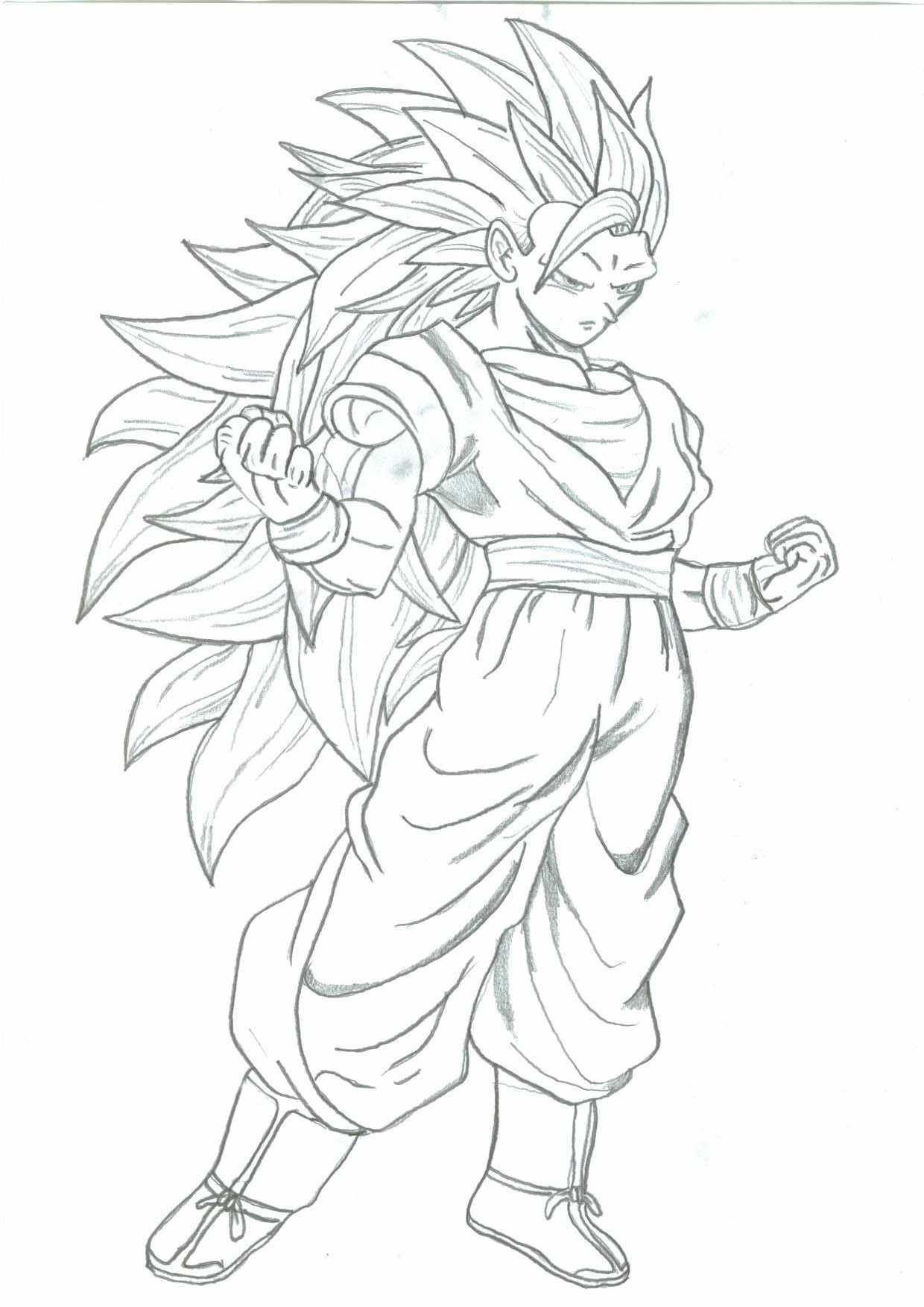 Gotenks super sainy 5 free coloring pages for Goku super saiyan 5 coloring pages