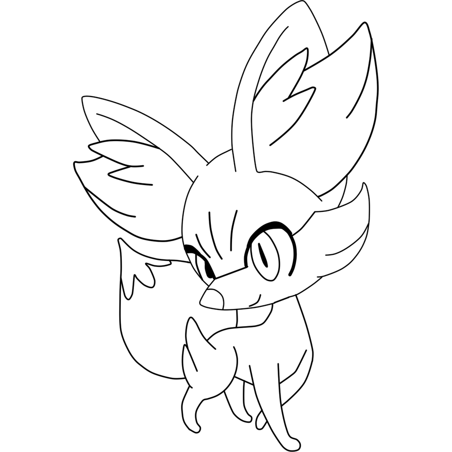 Pokemon fennekin coloring pages ~ Base Fennekin by TheDemonZorua8000 on DeviantArt