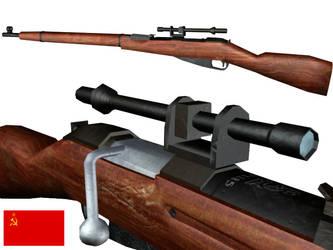 Mosin-Nagant Sniper Rifle by liquidmuffin