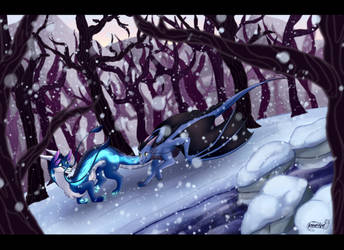 Race in the Snow [Commission] by KhaoticVex