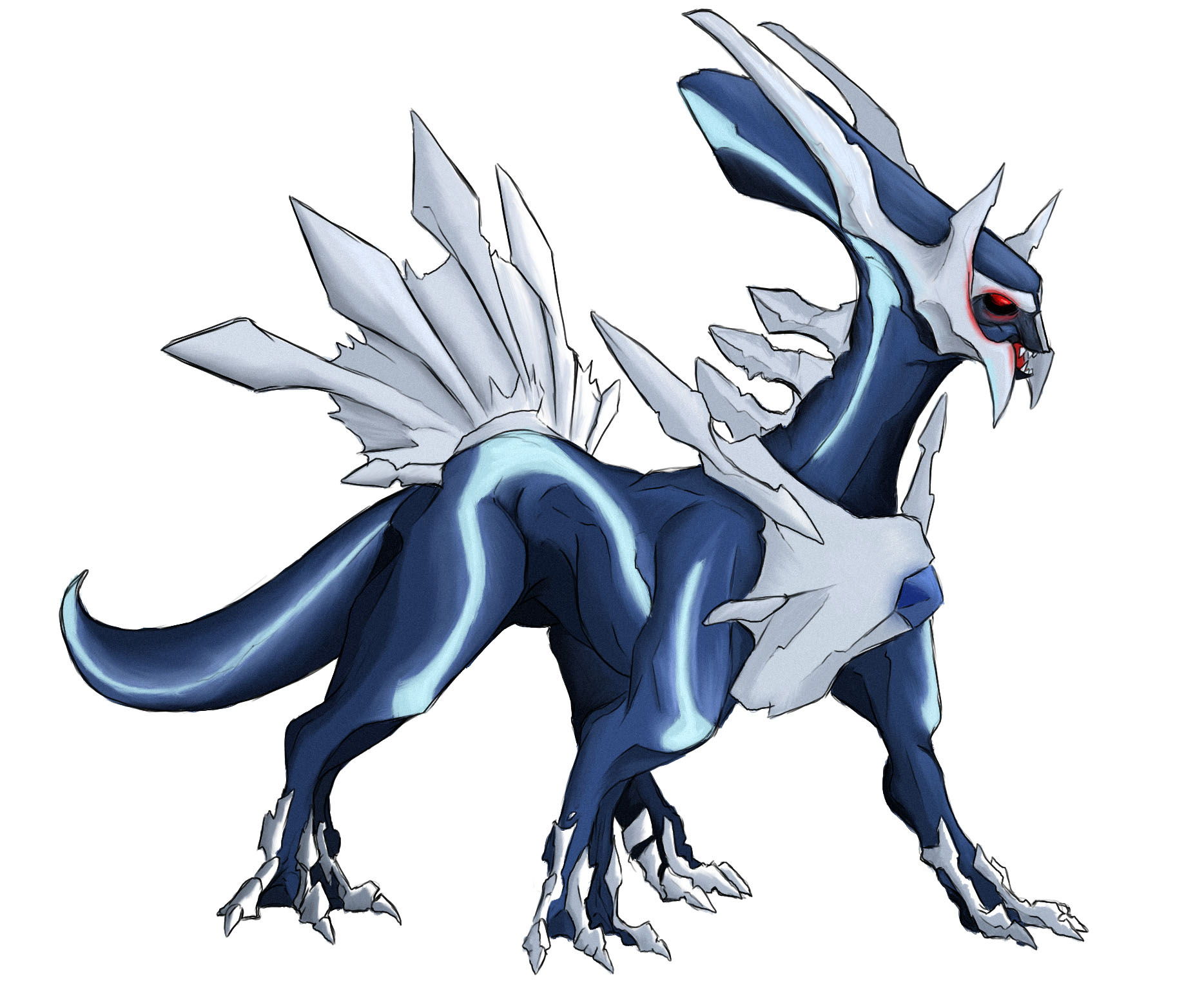 how to draw primal dialga