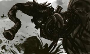 big bad gear wolf by disgustiphage