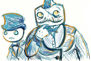 doze and sawbuck muro scribble by disgustiphage