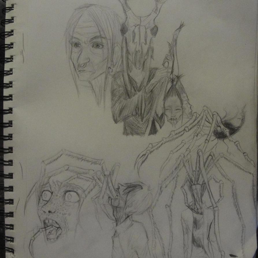 Car Ride Sketches by DragonStorm16