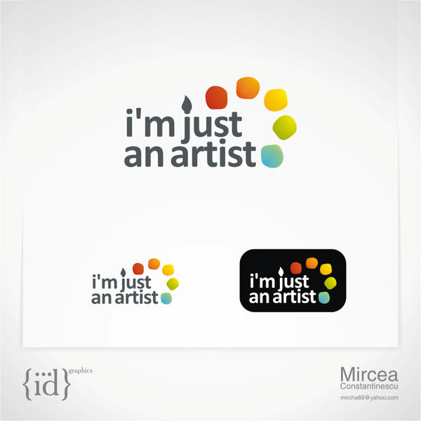 i'm just an artist logo by mircha69