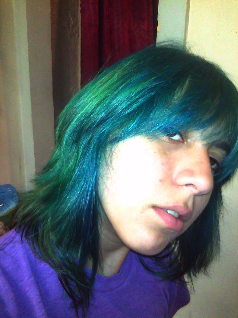 aqua with blue sky color hair by bratcole - Blue Color Hair