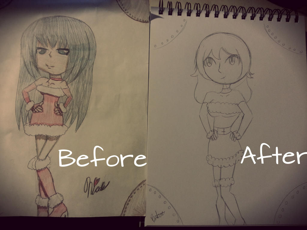 Merry Chirstmas Before and after by Bratcole