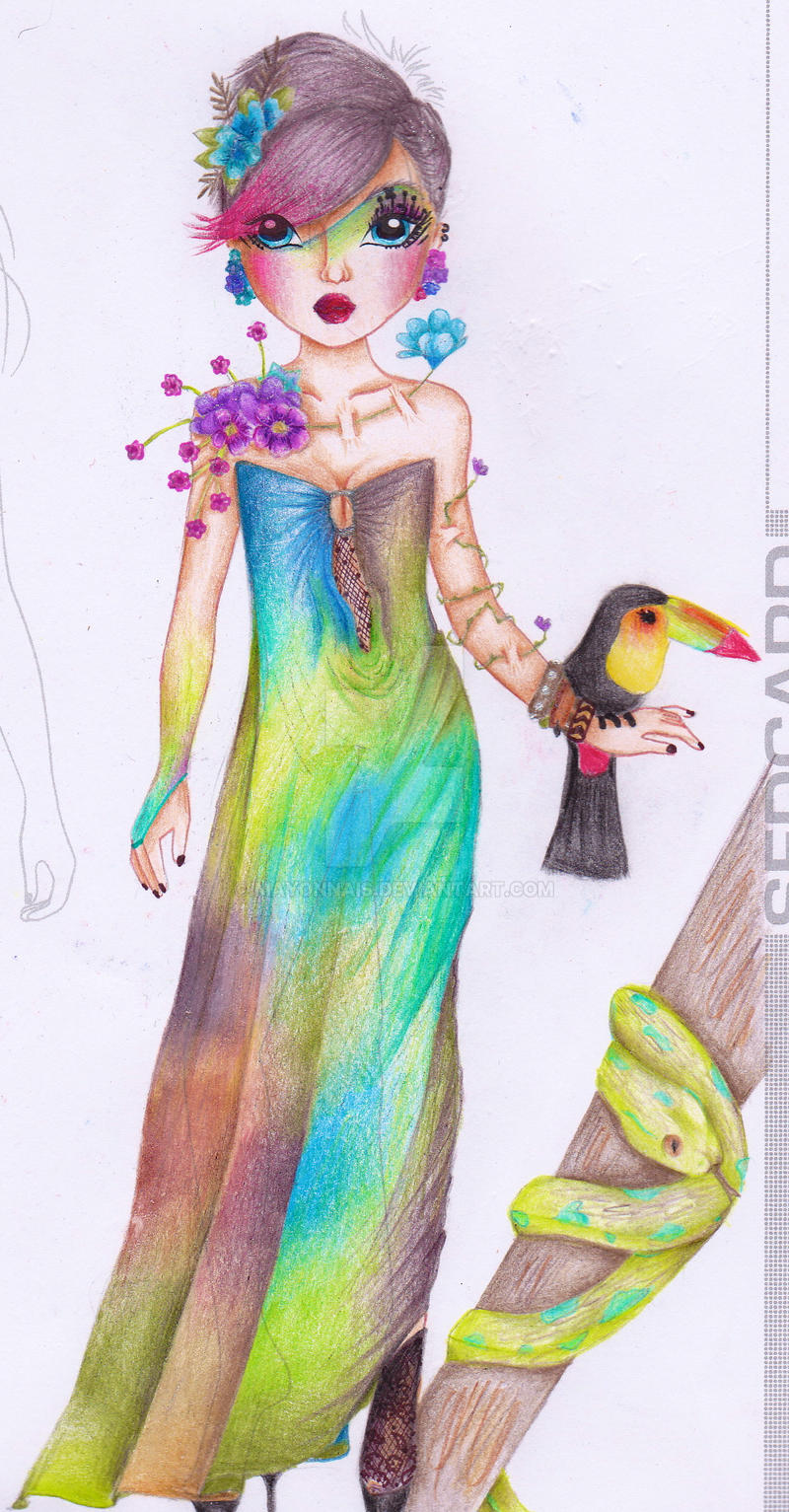For jungle compitition by mayonnais on deviantart - Dessin top model biz ...