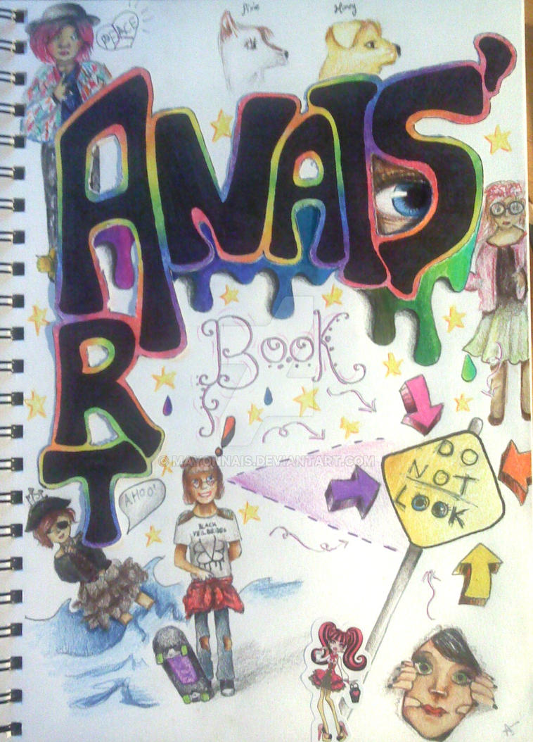 My Art Book Cover ~ My art book cover challenge by mayonnais