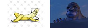 Optimus want's that banana sfw version