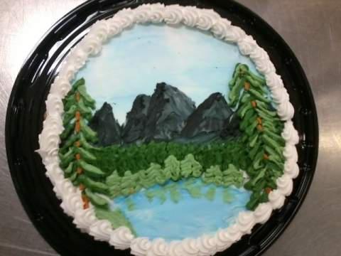 Bob Ross Inspired Cake By Kalicaferalheart On Deviantart