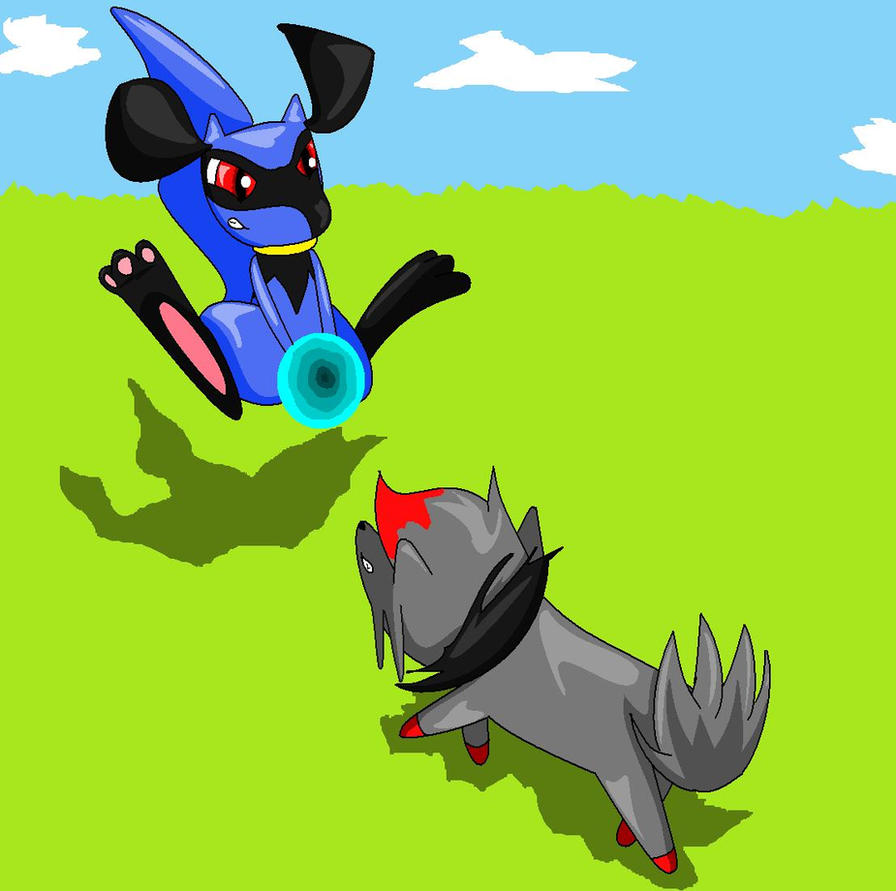 Riolu vs Zorua by Silvernazo on DeviantArt