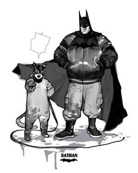 Batman with cat something..