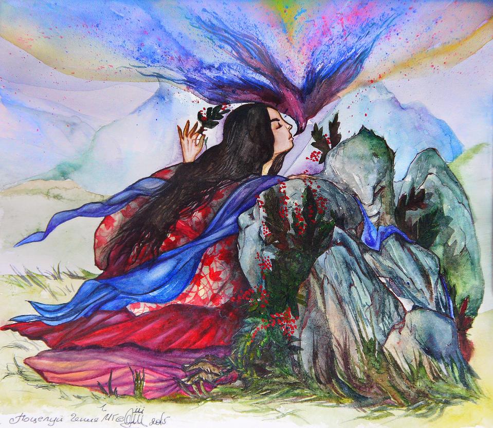 kiss of  spirit by Mirzaeva