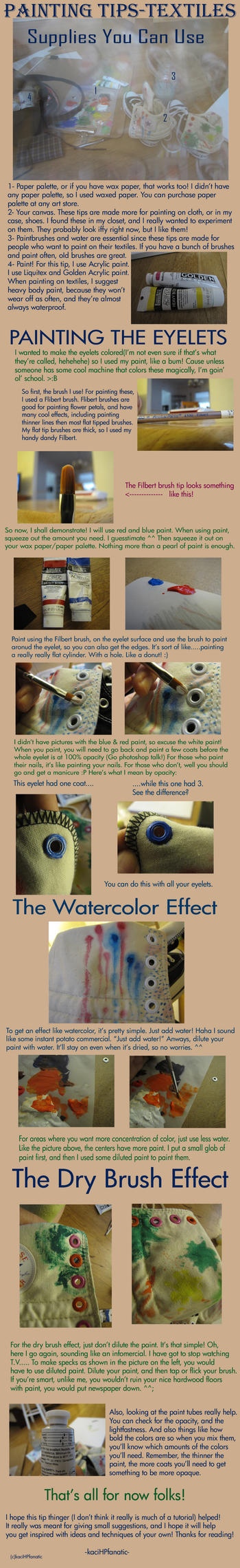 Painting Tips For Textiles by KaciHPfanatic
