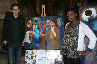 My St Peter painting at Bristol Cathedral
