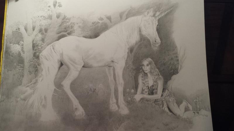 Unicorn Wip by CaroleHumphreys