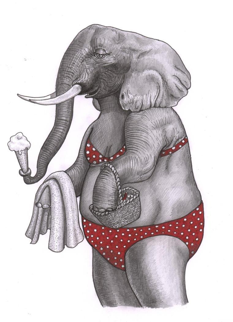 Bikini clad female by CaroleHumphreys