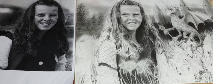 Molly portrait progress