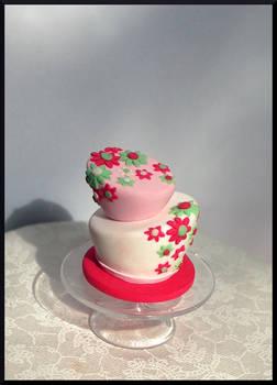 Flowery Wonky Cake