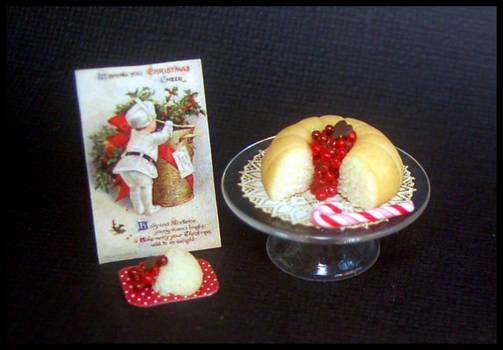 Vanilla bundt cake  with cherries