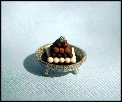 Chocolate truffle pyramid