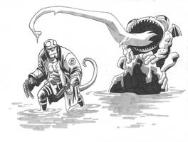 Hellboy grey by scottygod