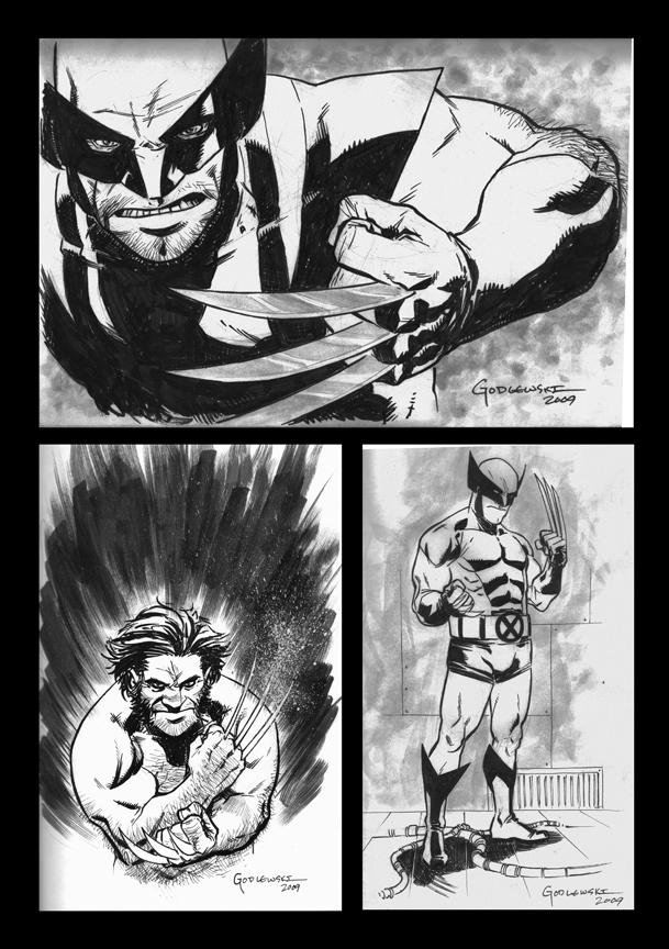 Wolverine 100 Sketches by scottygod