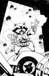 Rocket Raccoon inks
