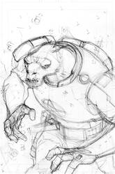 COPPERHEAD #8 cover pencils by scottygod