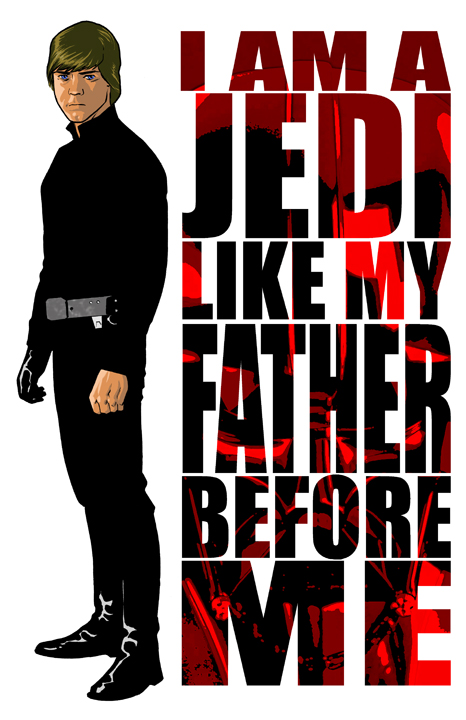 Luke Skywalker print by scottygod