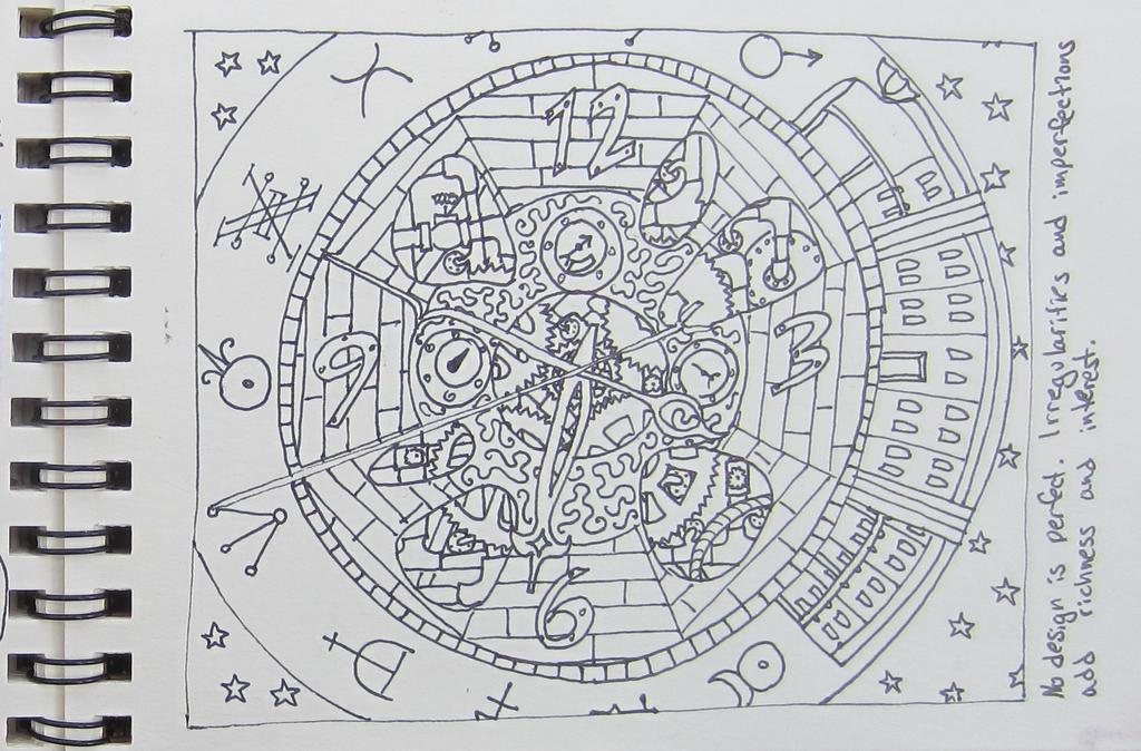 Steampunk Sketchbook Quilt Design Page by starbuckwhalerider