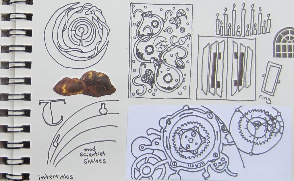Steampunk Sketchbook Metropolis Page by starbuckwhalerider