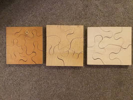 Simple jigsaw puzzles 3/4 inch ply