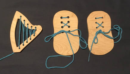 Maple lacing cards