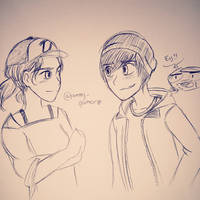 The New Frontier - Gabe and Clem by PrettyXTheXArtist