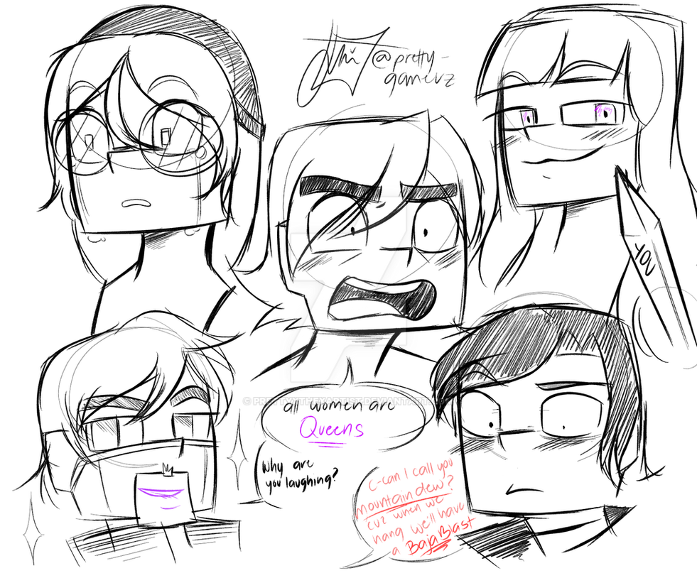 how i draw minecraft expressions by prettyxthexartist on deviantart