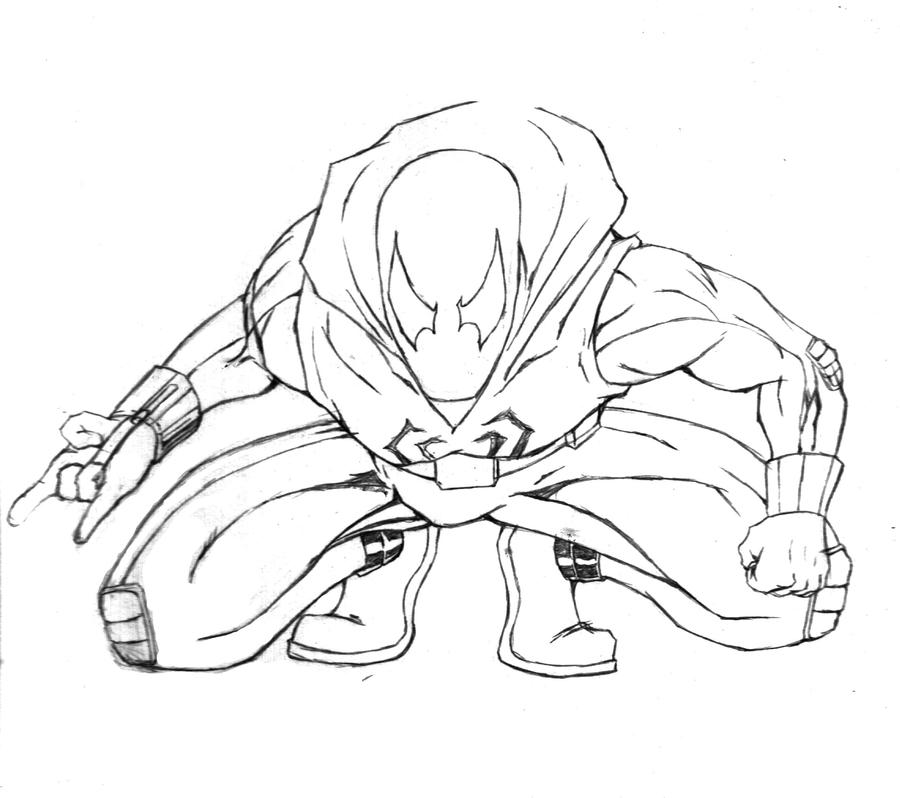 Scarlet spider pages coloring pages for Spider man 2099 coloring pages