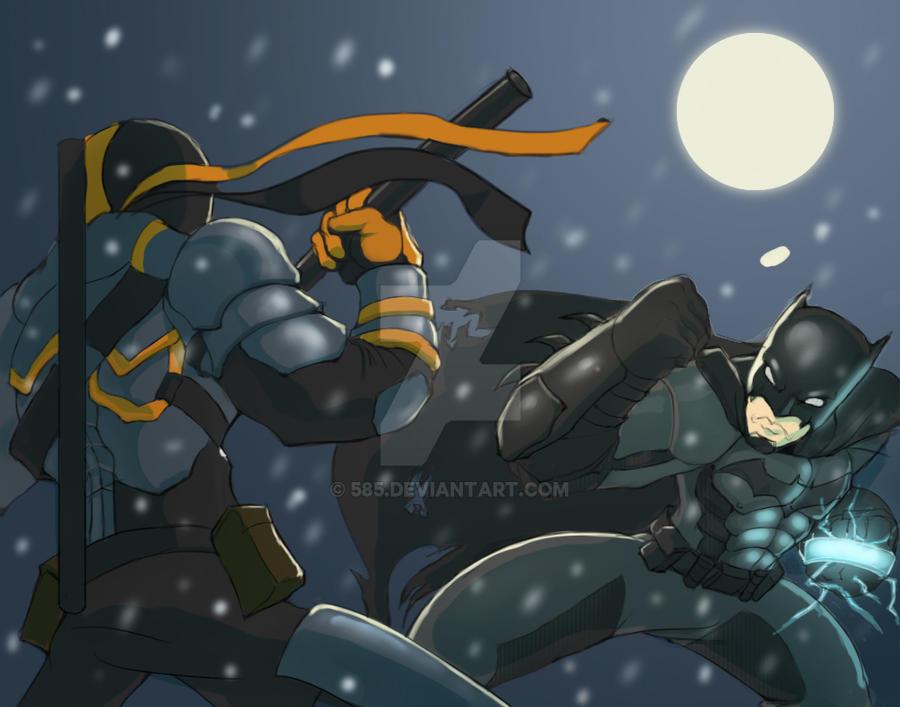 Batman Vs Deathstroke By 585