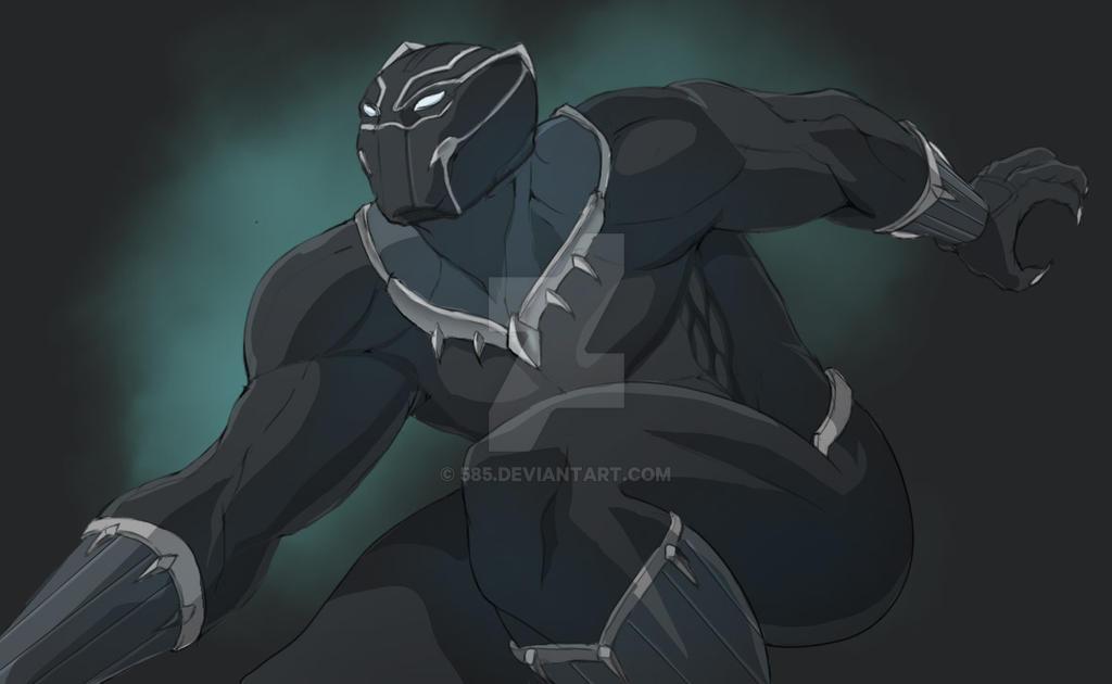 Black Panther By Portela On Deviantart: Black Panther Civil War 2nd Version By 585 On DeviantArt