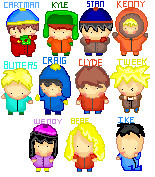 South Park Kids Pixel Chibis by Condemns
