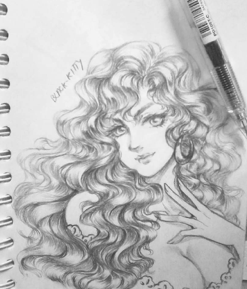 2b Pencil Drawing Curly Hair By Mamisblackkitty On Deviantart
