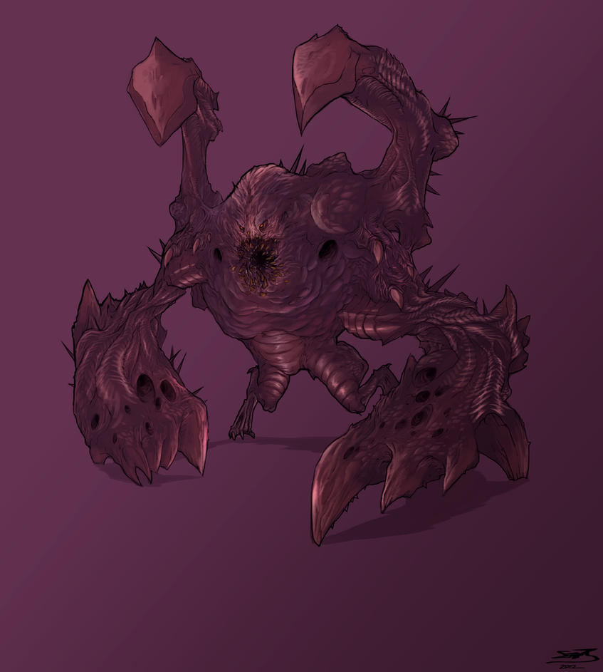 Starcraft Monster Concept by TheRisingSoul