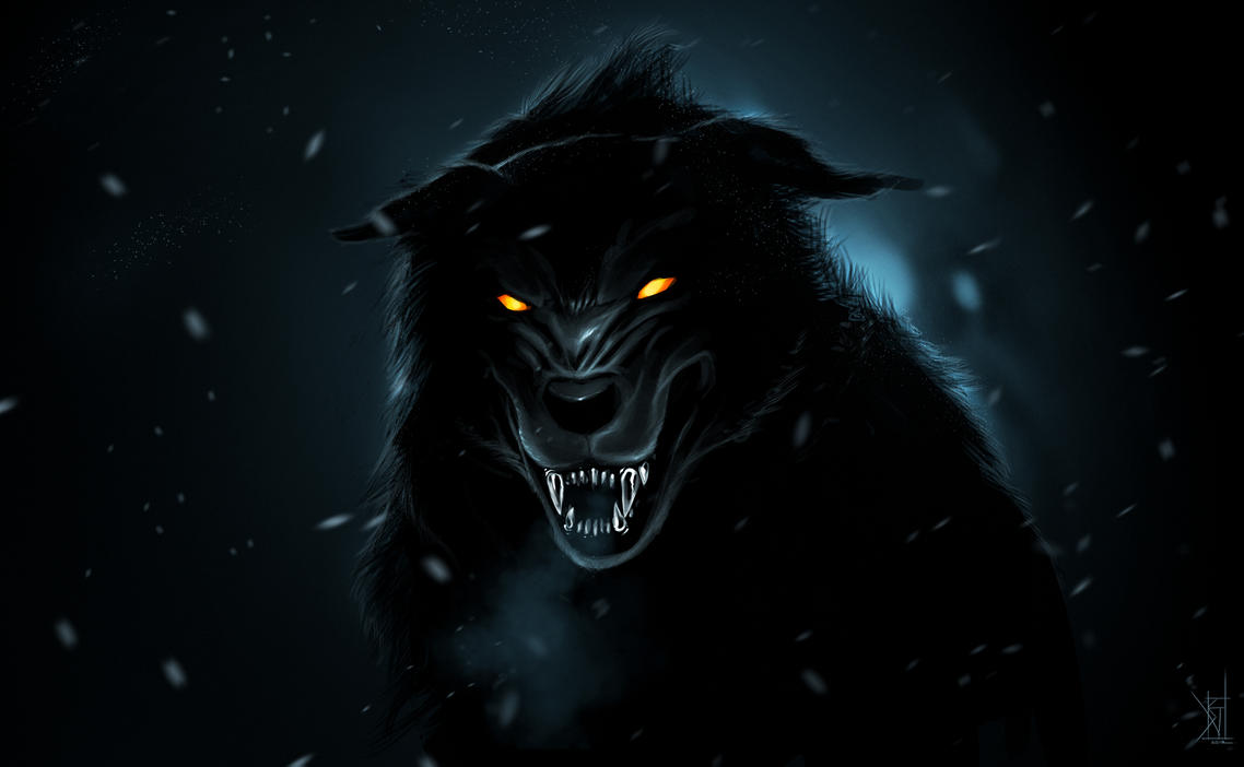 Black Wolf by TheRisingSoul Angry Black Wolf Drawing