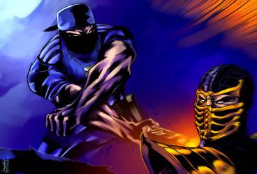 Stryker vs. Scorpion : Mortal Kombat by TheRisingSoul