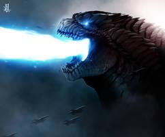 Godzilla 2014 by TheRisingSoul