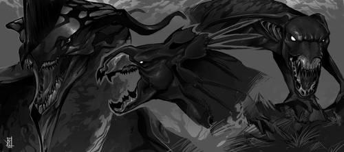 Toruk Makto, Thanator, Viperwolf by TheRisingSoul