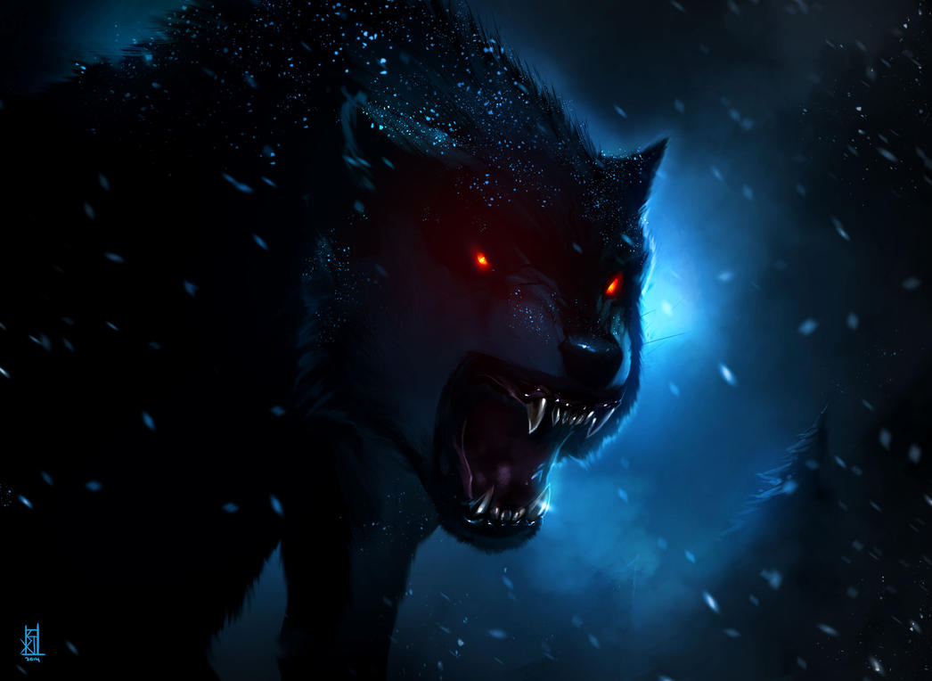 black wolf by therisingsoul on deviantart